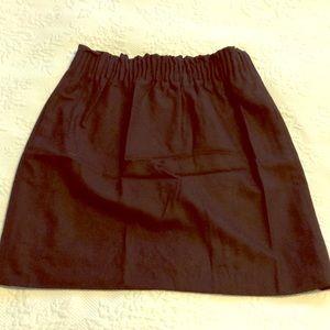 Black jcrew mini skirt